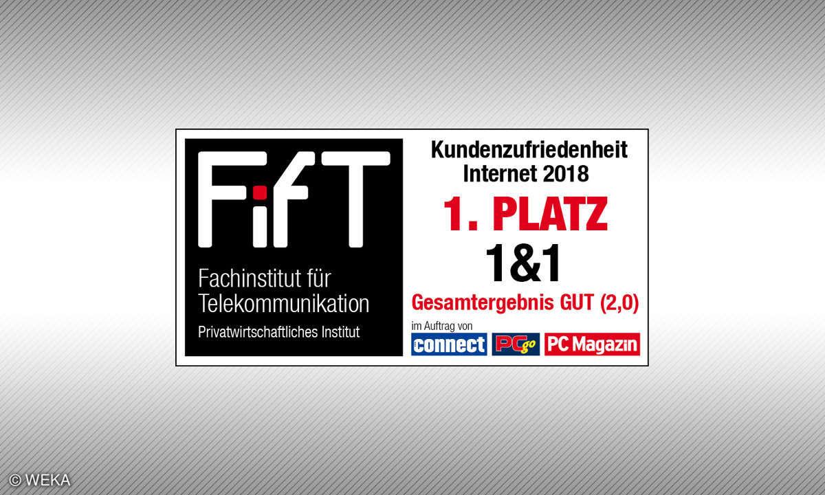 1. Platz Kundenbarometer Internet Provider 2018