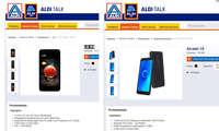 Aldi Sued LG K9 Alcatel 1X Schnäppchen Aktion