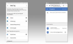 Google Assistant Tipps - Mein Tag & Einkaufsliste