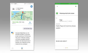 Google Assistant Tipps - WhatsApp & Route