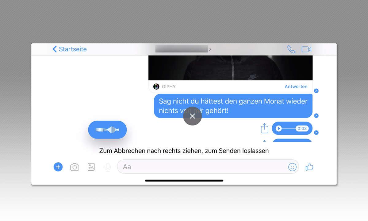 8 Tipps für Facebook Messenger - Audionachrichten schicken