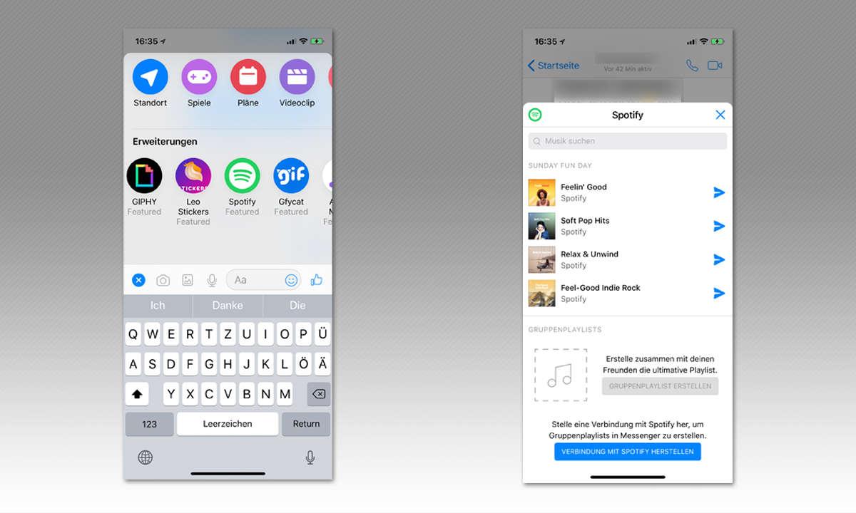 8 Tipps für Facebook Messenger - Erweiterungen