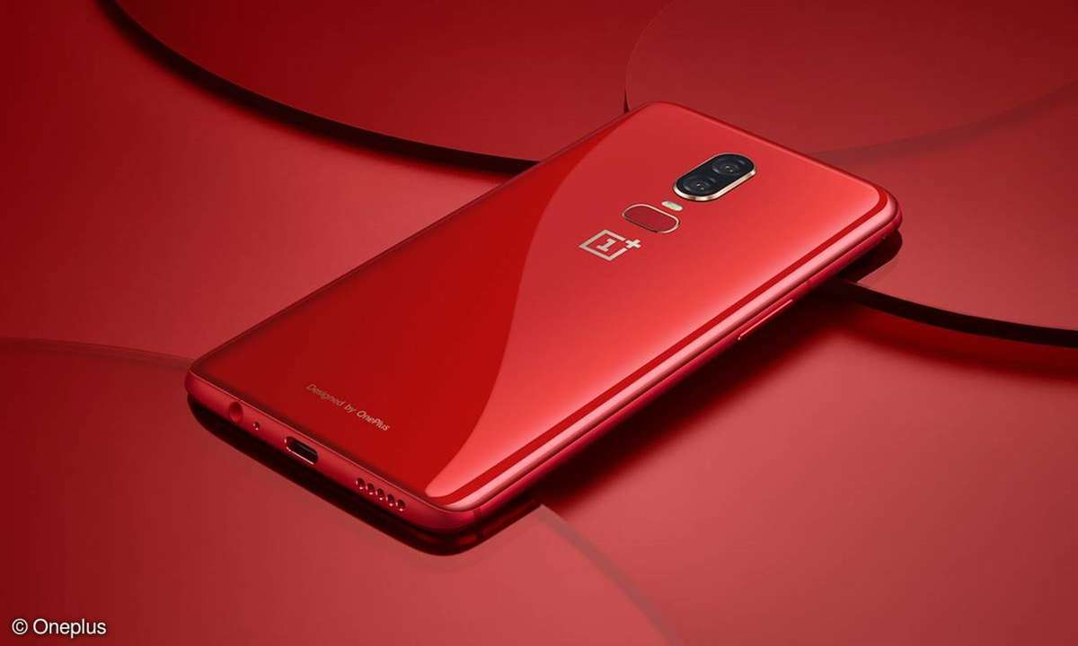 Oneplus 6 in rot