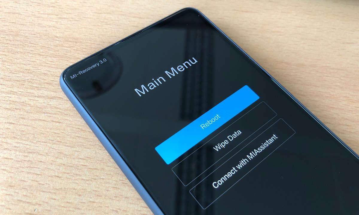 Xiaomi Mi MIX 2S im Recovery Mode