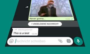 whatsapp weitergeleitet hinweis