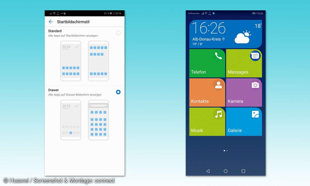 Huawei P20 User Interface