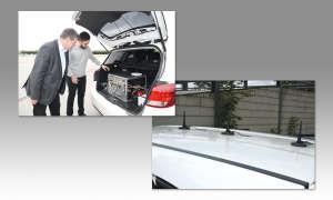 Drive-Test Fahrzeug von p3 - Testsystem