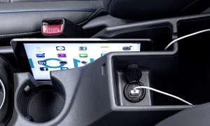 Hyundai Ioniq Hybrid Ladeanschluss Tablet