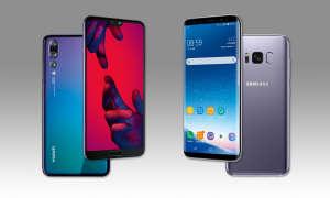 Huawei P20 Pro und Samsung Galaxy S8