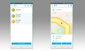 Volkswagen-Connect-App: Fahrten
