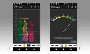 """WLAN Performance erhöhen mit """"Wifi Analyzer"""" Screen 1 und 2"""