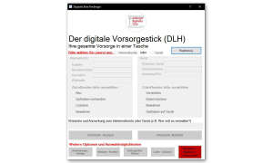 Digitales Erbe Fimberger Stick Eingabemaske