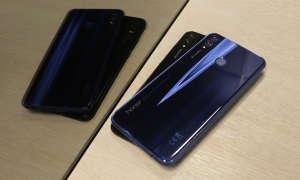 Honor 8X Smartphone Schwarz und Blau