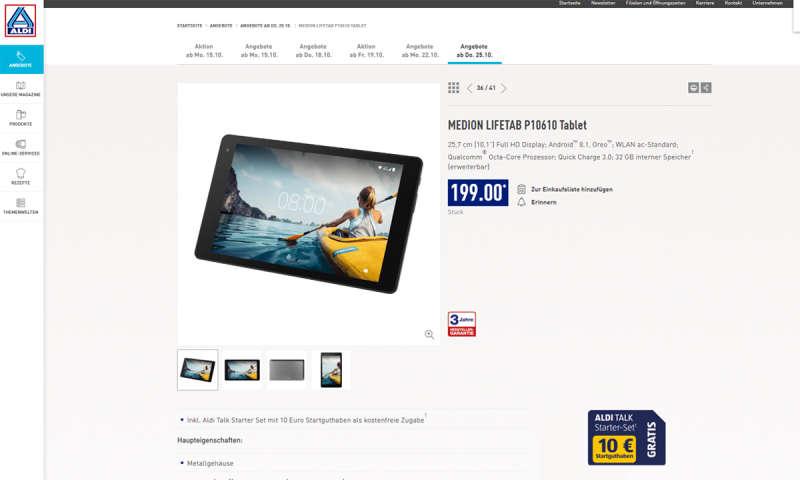 Aldi Nord Medion Lifetab P10610 Neffos Tp Link Smartphone Ab