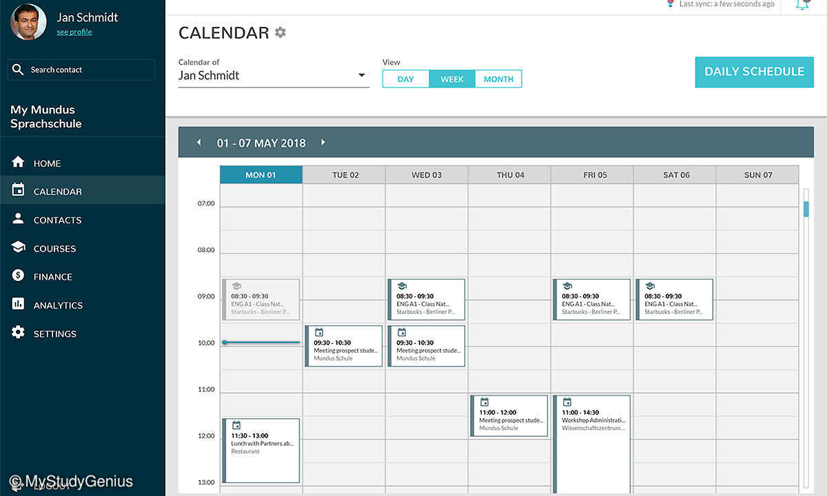 MyStudyGenius Calendar
