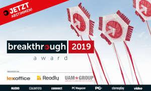 breakthrough award 2019 - Jetzt abstimmen