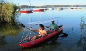 Vogel Kajak-Sonnendach - Das Team: Gaby und Tom