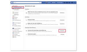 Zwei-Faktor-Authentifizierung bei Facebook
