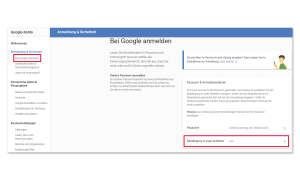 Zwei-Faktor-Authentifizierung bei Google
