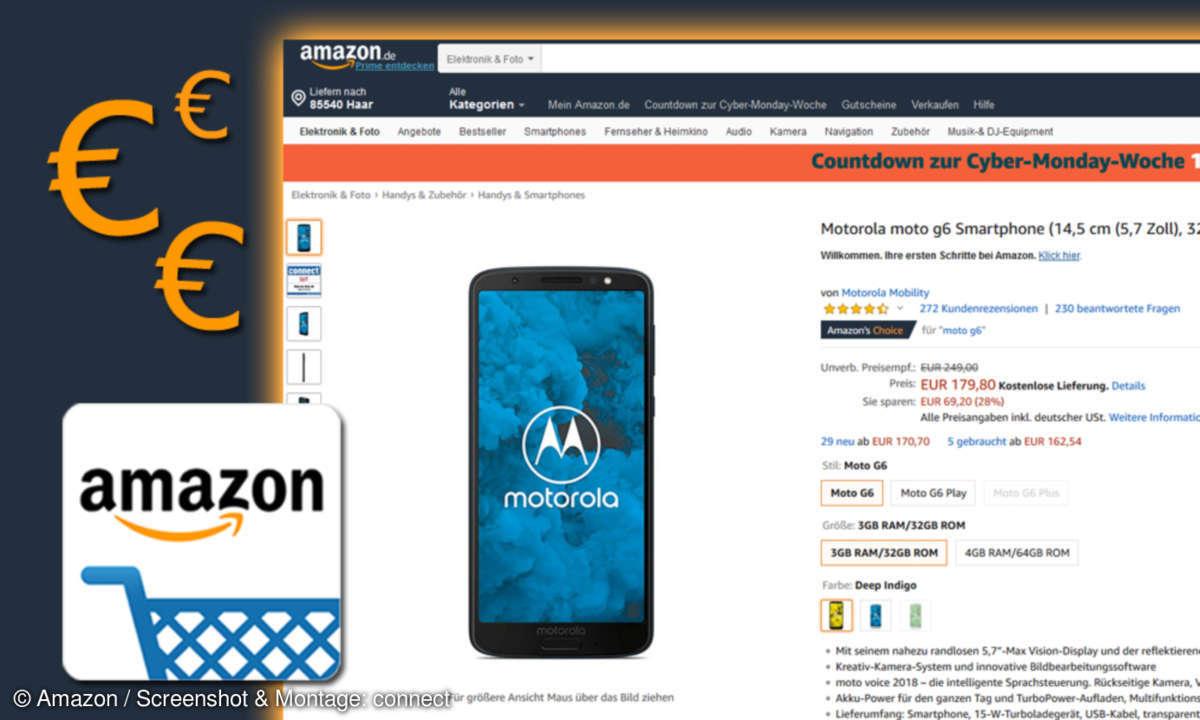 Amazon-Angebot Moto G6