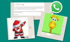 Whatsapp Kettenbrief Giraffe Santa