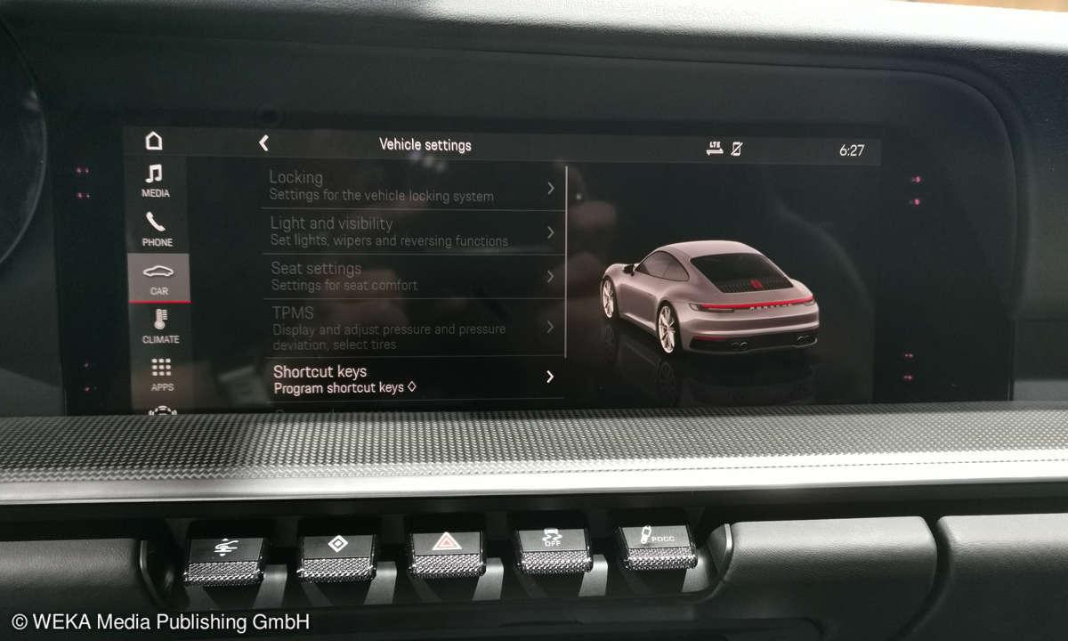 Der neue Porsche 911er - Eine Ikone geht in die achte Generation - Touchscreen