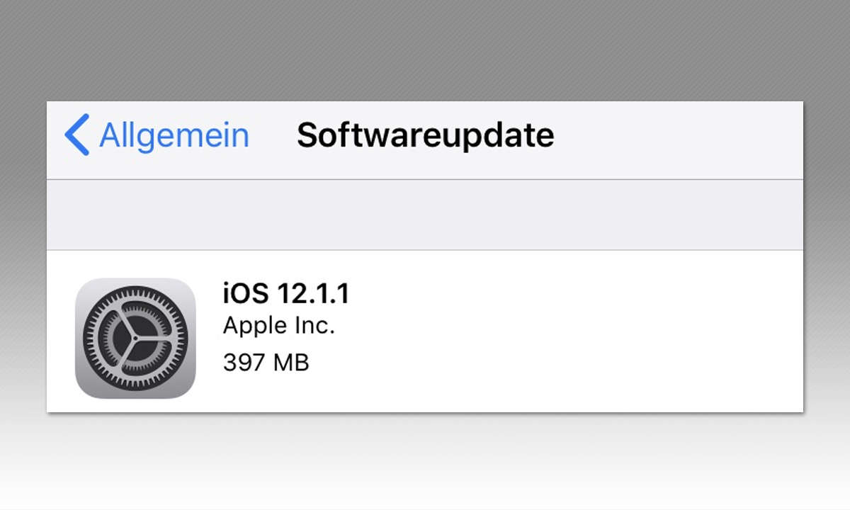 Apple iPhone iPad Aktualisierung Screenshot