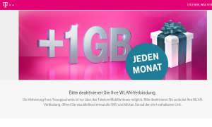 Telekom 1 Gigabyte gratis