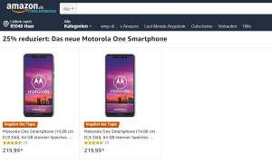 Motorola Moto One Amazon Angebot