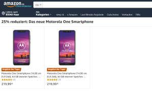 Motorola Moto One Amazon Angebot