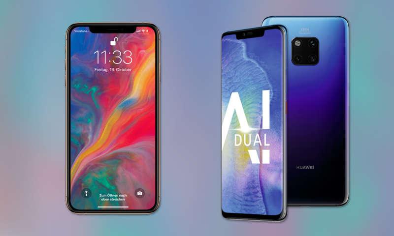 vergleich iphone 7 und huawei mate 10 pro