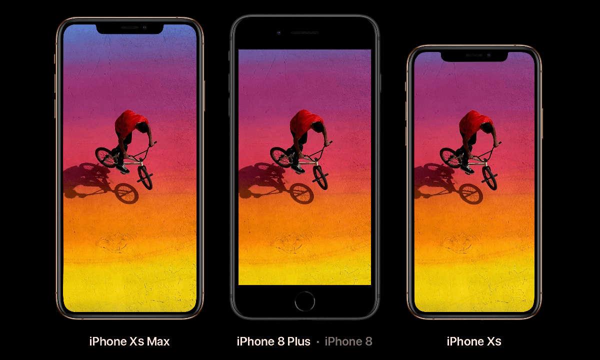 iPhone XS Max, iPhone 8 Plus, iPhone XS