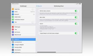 Multi-Tasking auf dem iPad mit iOS 12 - Einstellungen