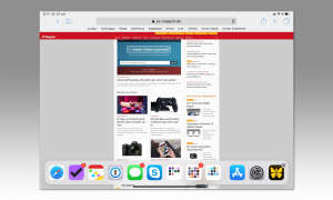 Multitasking iOS 12: Dock einblenden