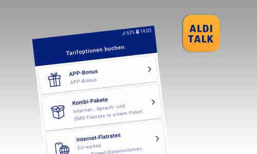 Aldi Talk Kostenloses Datenvolumen In Der App Connect