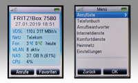 AVM Fritzfon C6 im Test - Screens