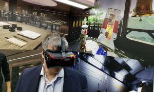 VR-Demo mit 5G am Stand von Qualcomm