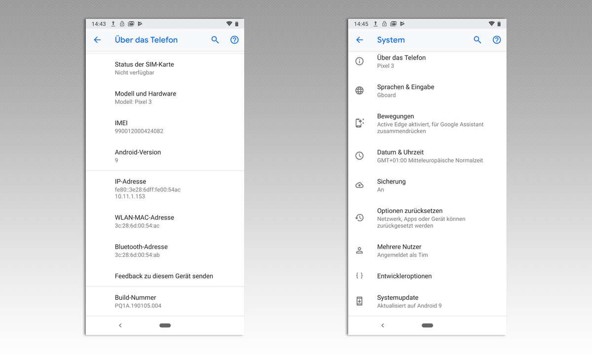 Android Entwicklereinstellungen