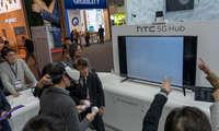 5G-Hub-Demo am Stand von HTC