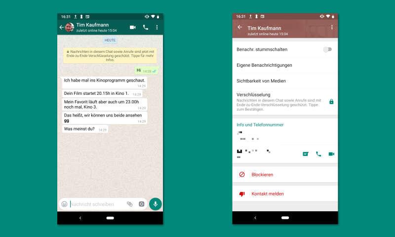 WhatsApp zeigt nur Nummern und keine Kontakte an