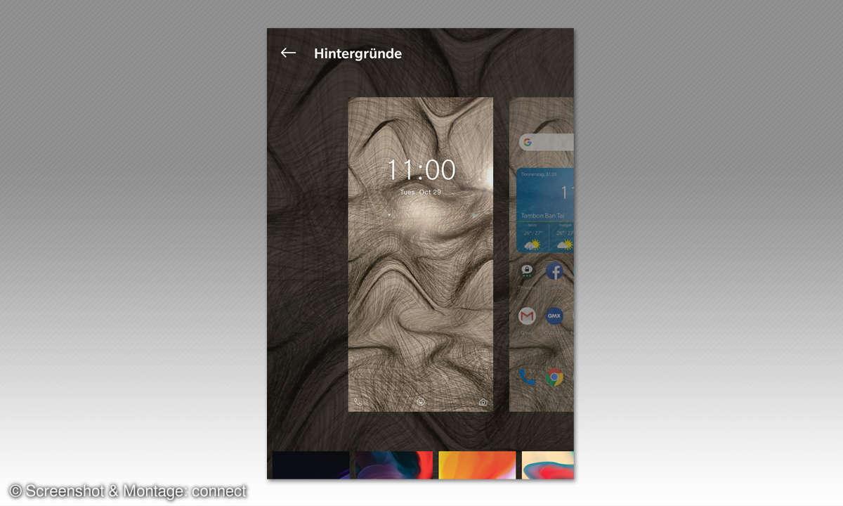 Android personalisieren: Hintergrund