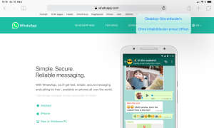 WhatsApp Webseite