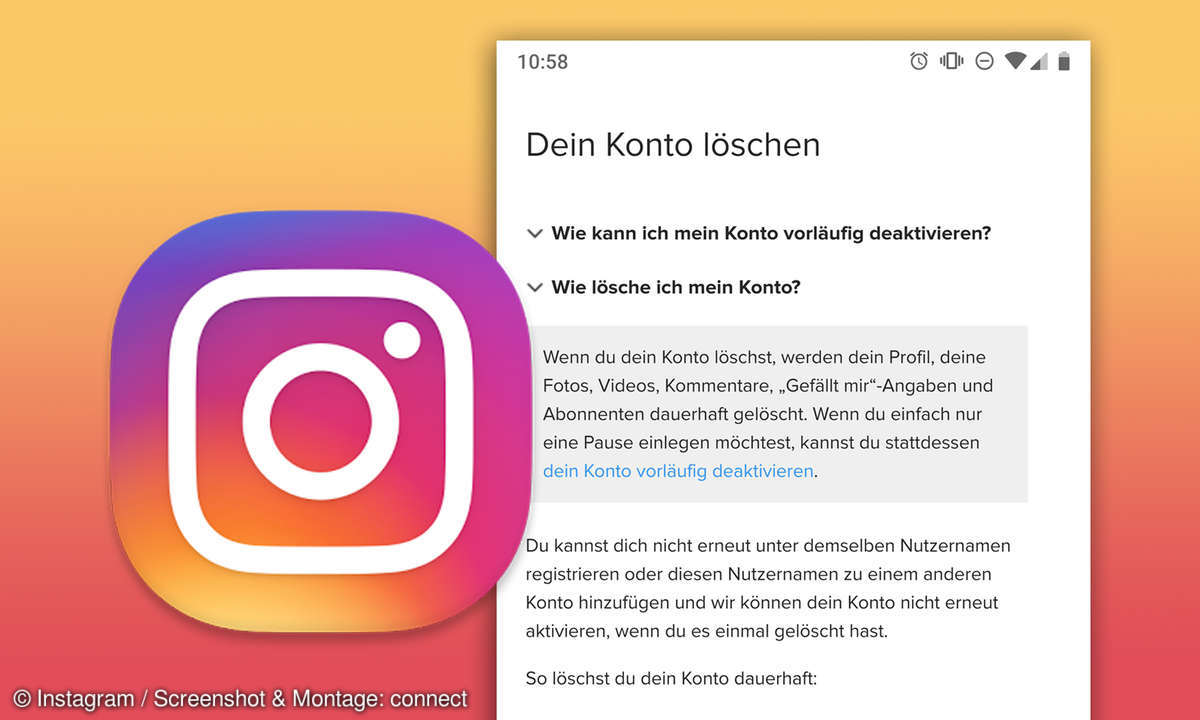 instagram konto loeschen deaktivieren