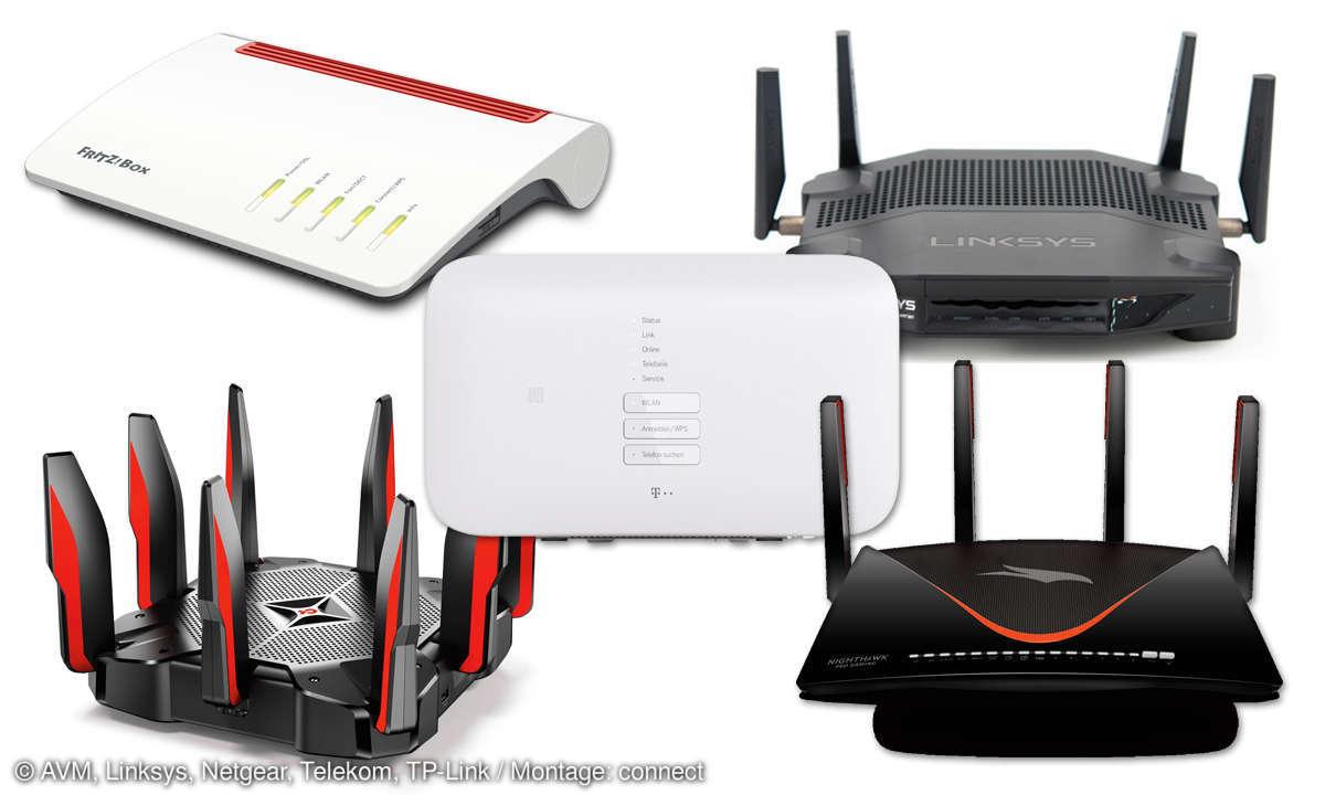 Gaming-Router vs. Standard-Router: AVM, Linksys, Netgear, Telekom & TP-Link im Vergleich