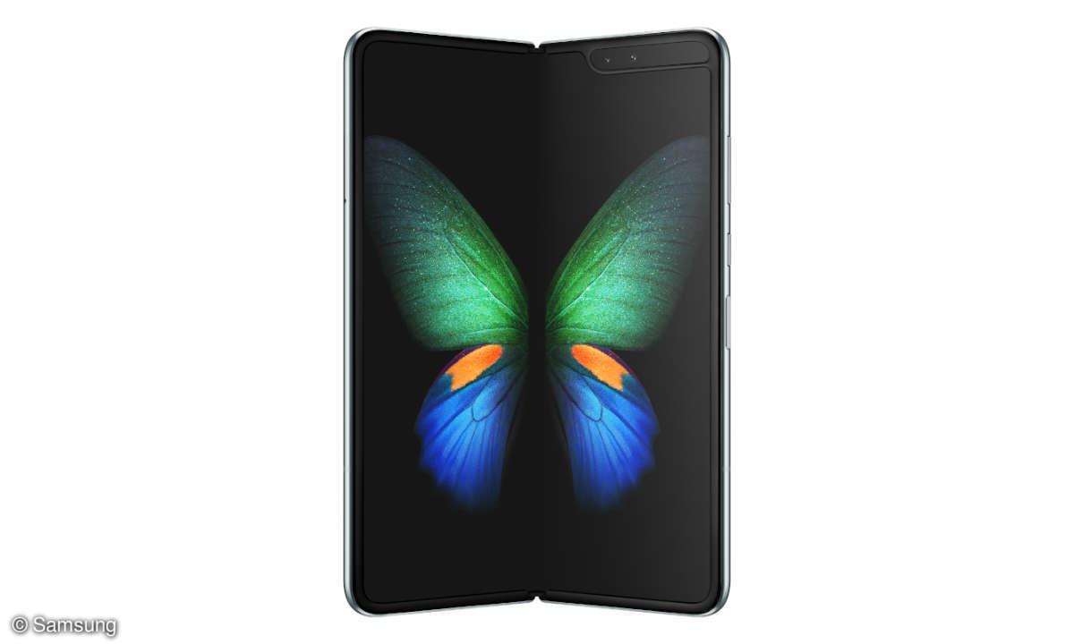 Samsung Galaxy Fold frontal geklappt