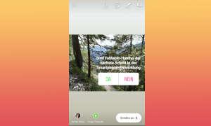 Instagram Stories Umfrage-Sticke