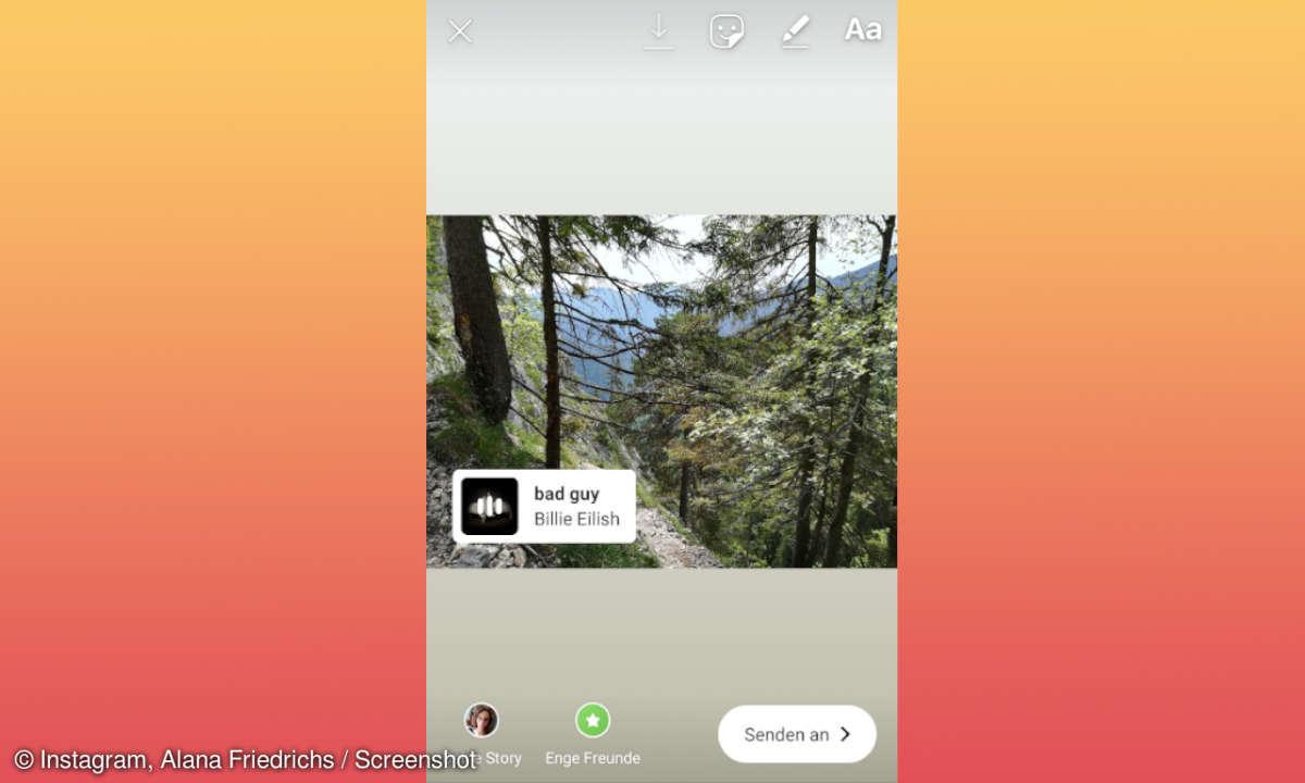 Instagram Stories Musik-Sticker