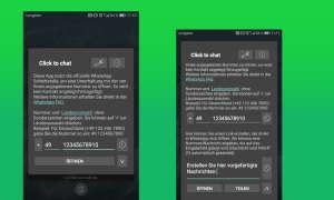 WhatsApp Kontakte umgehen - kostenlose App Click to Chat