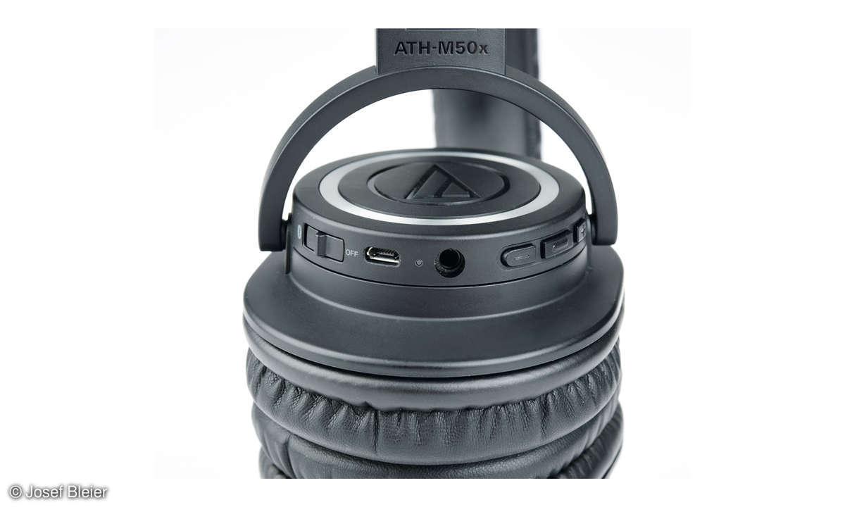 Audio-Technica ATH-M50xBT im Test - Bedien-Tasten