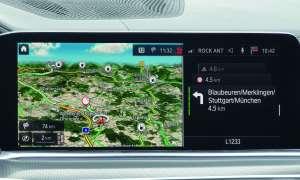 BMW X5: Navigation Splitscreen